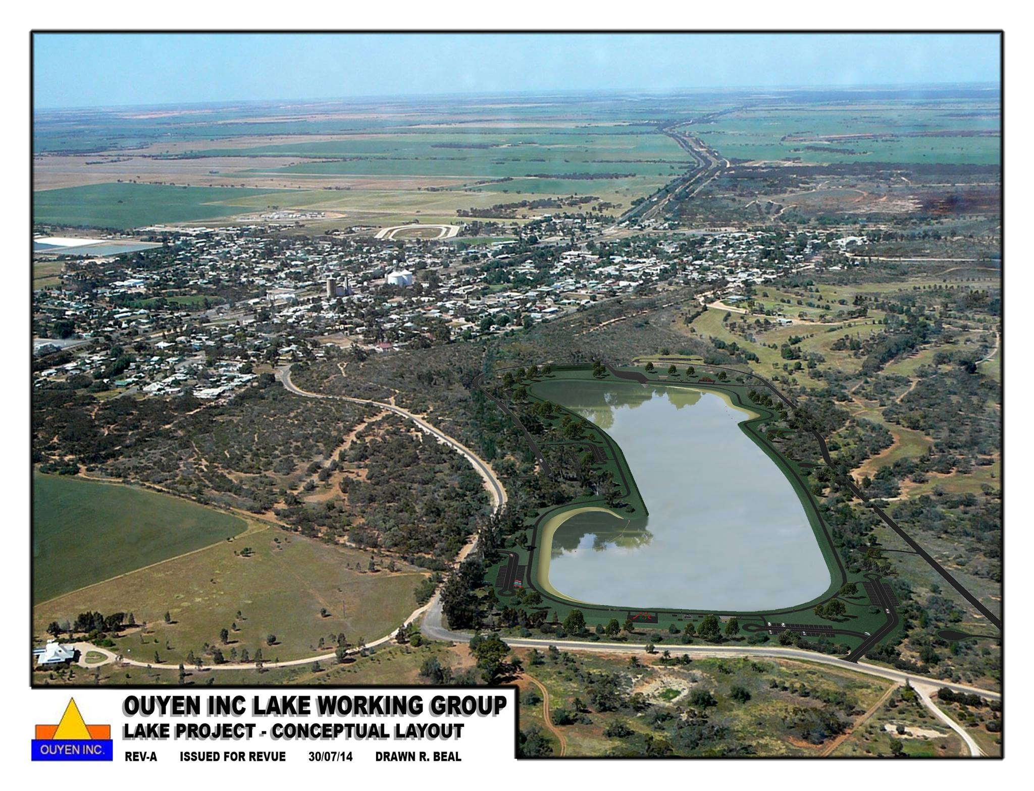 Conceptual layout of Ouyen Lake